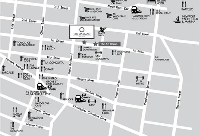 Jersey City Neighborhood Map