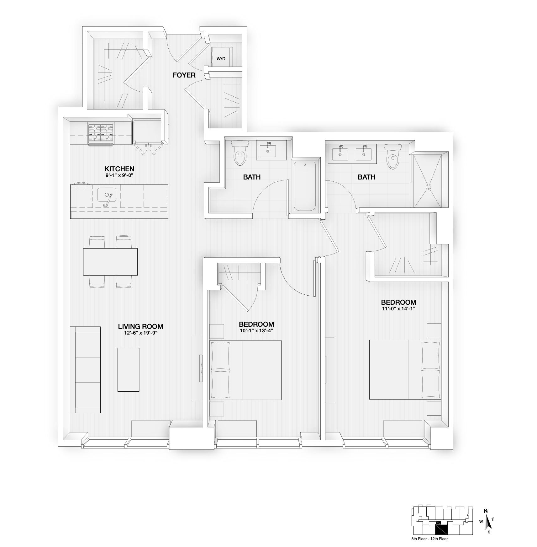 The Oakman Floorplan 803-1203